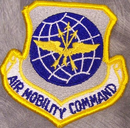 USAF Air Mobility Command The Patch Measures 3 X